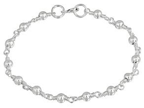 Beads Link Sterling Silver 7 inch Bracelet