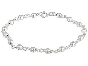 Beads Link Sterling Silver 8 inch Bracelet