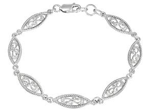 Paisley Sterling Silver 7 inch Link Bracelet