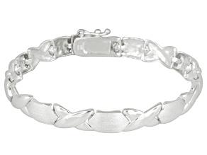 Stampato Link Sterling Silver 7 inch Bracelet