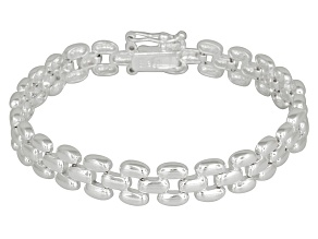 Panther Link Sterling Silver 7 inch Bracelet