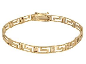 Greek Key Link 18k Yellow Gold Over Sterling Silver 7 1/2 inch Bracelet