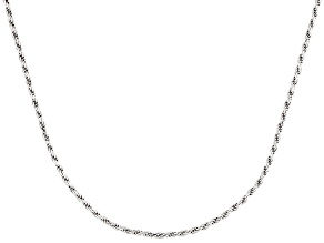 Sterling Silver Twisted Rope Link Chain Necklace 20 inch
