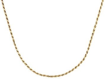 Picture of 18k Yellow Gold Over Sterling Silver Twisted Rope Link Chain Necklace 20 inch