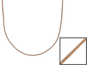 18k Rose Gold Over Sterling Silver Round Snake Link Chain Necklace