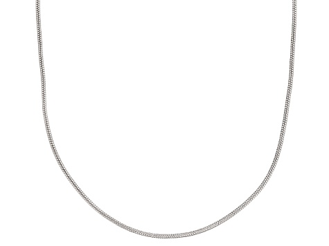 Sterling Silver Round Snake Link Chain Necklace 20 inch 1mm