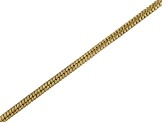 18k Yellow Gold Over Sterling Silver Round Snake Link Chain Necklace