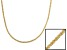 18k Yellow Gold Over Sterling Silver Twisted Diamond Cut Chain Necklace