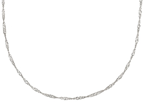 Sterling Silver Singapore Link Chain Necklace 20 inch 1.5mm