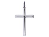 Sterling Silver Cross Pendant    Hollow Center     Made in Italy