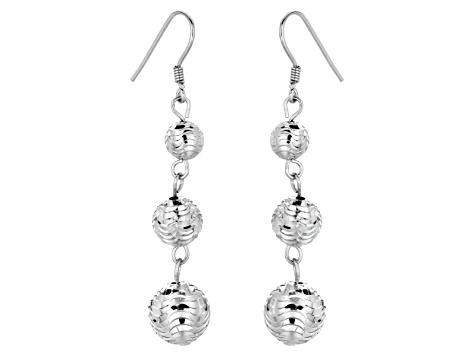 72bd662bc Sterling Silver Ball Dangle Earrings Hollow Center - BSW397 | JTV.com