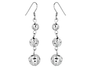 Sterling Silver Ball Dangle Earrings     Hollow Center
