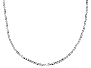 Sterling Silver 1mm 20 inch Box Chain     Made in Italy