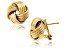 14k Yellow Gold Over Sterling Silver Love Knot Earrings