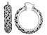 Rhodium Over Sterling Silver Hoop Earrings
