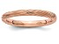 14k Rose Gold Over Sterling Silver Textured Band Ring