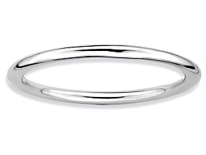 Rhodium Over Sterling Silver Band Ring