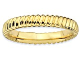 14k Yellow Gold Over Sterling Silver Polished Band Ring