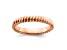 14k Rose Gold Over Sterling Silver Polished Band Ring