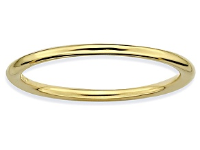 14k Yellow Gold Over Sterling Silver Band Ring