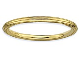 14k Yellow Gold Over Sterling Silver Fancy Band Ring