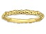 14k Yellow Gold Over Sterling Silver Cable Band Ring