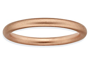 14k rose gold over sterling silver satin finished band ring