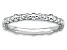 Rhodium Over Sterling Silver Cable Band Ring