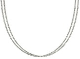Sterling Silver Box Link Chain Set Of 2