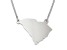 Sterling Silver South Carolina Silhouette Center Station 18 inch Necklace