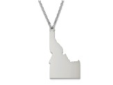 Sterling Silver Idaho Silhouette Center Station 18 inch Necklace