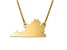 14k Yellow Gold Over Sterling Silver Virginia Silhouette Center Station 18 inch Necklace