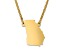 14k Yellow Gold Over Sterling Silver Georgia Silhouette Center Station 18 inch Necklace