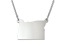 Sterling Silver Oregon Silhouette Center Station 18 inch Necklace