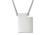 Sterling Silver Utah Silhouette Center Station 18 inch Necklace
