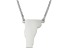 Sterling Silver Vermont Silhouette Center Station 18 inch Necklace