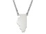 Sterling Silver Illinois Silhouette Center Station 18 inch Necklace