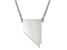 Sterling Silver Nevada Silhouette Center Station 18 inch Necklace
