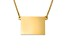 14k Yellow Gold Over Sterling Silver Wyoming Silhouette Center Station 18 inch Necklace