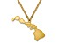 14k Yellow Gold Over Sterling Silver Hawaii Silhouette Center Station 18 inch Necklace