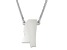 Sterling Silver Mississippi Silhouette Center Station 18 inch Necklace