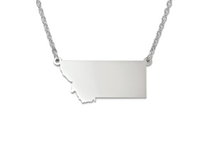 Sterling Silver Montana Silhouette Center Station 18 inch Necklace