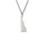 Sterling Silver Delaware Silhouette Center Station 18 inch Necklace