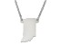 Sterling Silver indiana Silhouette Center Station 18 inch Necklace