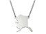 Sterling Silver Alaska Silhouette Center Station 18 inch Necklace