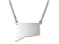 Sterling Silver Connecticut Silhouette Center Station 18 inch Necklace