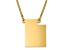 14k Yellow Gold Over Sterling Silver Utah Silhouette Center Station 18 inch Necklace