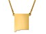 14k Yellow Gold Over Sterling Silver New Mexico Silhouette Center Station 18 inch Necklace