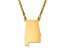 14k Gold Over Silver Alabama Silhouette Center Station 18 inch Necklace