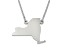 Sterling Silver New York Silhouette Center Station 18 inch Necklace
